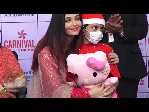 Aishwarya Rai EMOTIONAL Moments with Cancer Survivor Kids During Christmas Celebrations 2018