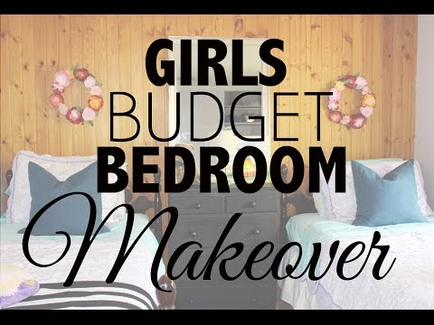 Girls Budget Bedroom Makeover