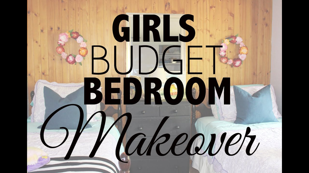 girls budget bedroom makeover youtube