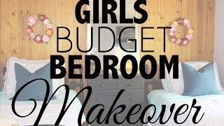 Girls Budget Bedroom Makeover
