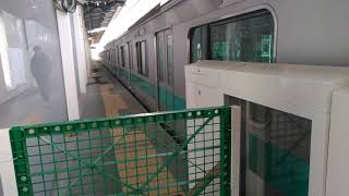 【いつの間にか始まってましたね】JR東日本常磐線E233系2000番台東マト19編成  95K試運転     東京メトロ千代田線北綾瀬支線北綾瀬(C-20)駅到着~折返発車