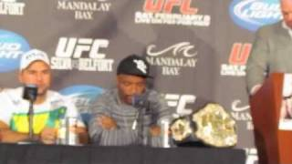 post ufc 126 silva on the code belfort broke and how a fight with gsp would go