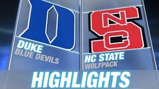 Duke vs North Carolina State | 2014-15 ACC Men