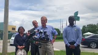 Nelson press conference after touring Homestead Temporary Shelter for Unaccompanied Children