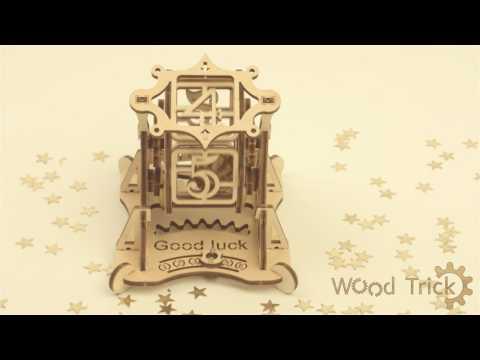 """Wheel of Fortune"" - Wood Trick mechanical 3D-model kit"