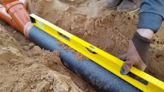 видео Как сделать вывод канализации из фундамента своими руками?
