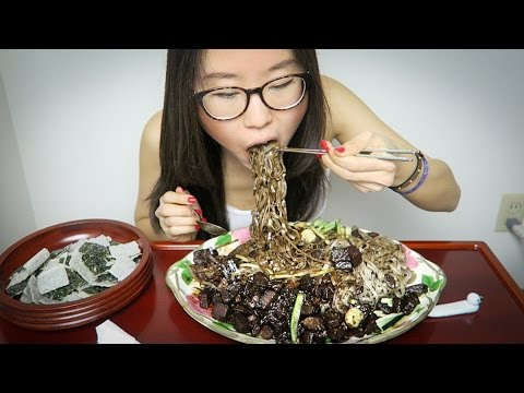 Jjajangmyeon MUKBANG • Korean Black Bean Noodles