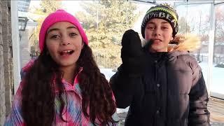 Salve Heidi! DESAFIO DA NEVE! Heidi e Zidane estão brincando na neve