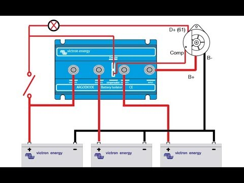 Tips - Installing a Battery Isolator on a Boat Battery Switch Wiring Diagram Two Engines on combination double switch diagram, dual battery diagram, two float switch system schematic, two battery generator diagram, dual switch diagram, marine battery switch diagram, murphy switch diagram,