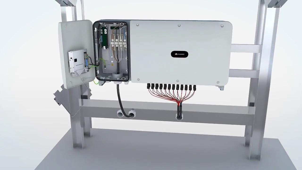 Huawei SUN2000-(50KTL, 60KTL)-M0: 08 Connecting the Communications Cables  (to the RJ45 Network Port)