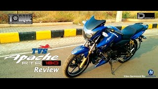 TVS Apache RTR 180 Review with Exhaust Note | Torque - The Automobile Show