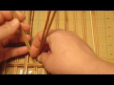 2 урок. Плетение донышка. Шкатулка для рукоделия из газетных трубочек.