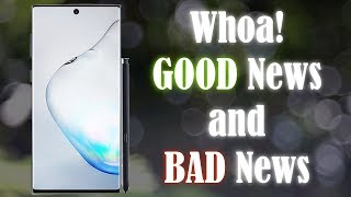 Galaxy Note 10 - New Leak Brings GOOD News and BAD News
