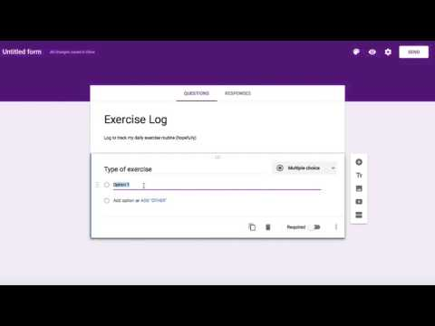 Use Google Forms to Create a Tracking Log - YouTube