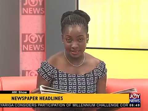 AM Show Newspaper Headlines on JoyNews (12-3-18)