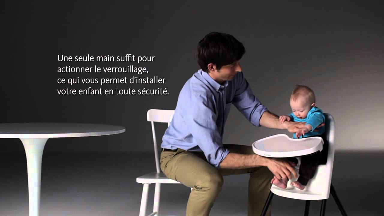 Utilisation de la chaise haute b b par babybj rn youtube for Chaise youtuber