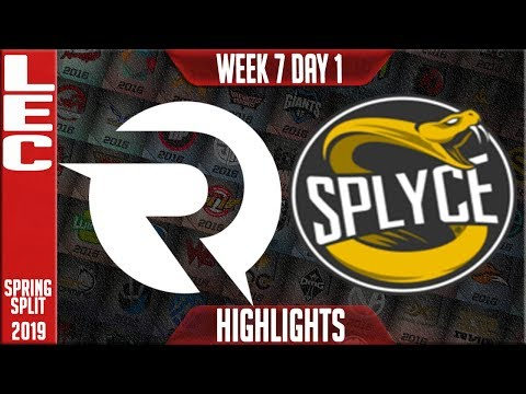 OG vs SPY Highlights | LEC Spring 2019 Week 7 Day 1 | Origen vs Splyce