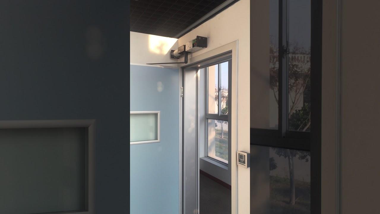 Automatic swing door opener SW100 for hospital door - YouTube