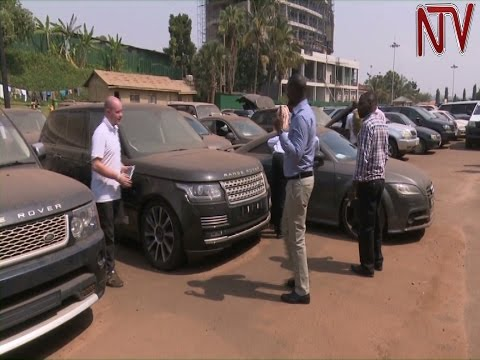 Ugandan authorities hand over 24 cars stolen in the UK