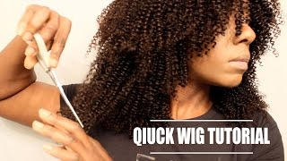 HOW TO MAKE & CUT LAYERS IN A CURLY WIG| FESHFEN| BEAUTYCUTRIGHT
