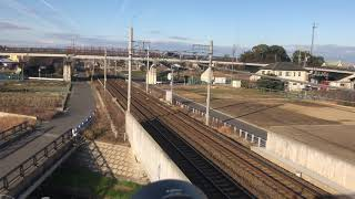名鉄空港特急ミュースカイ エヴァンゲリオン特別ラッピング車と空港線15周年記念車両の併結