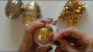 How to make DRAGON EGG. Dragon eggs with drawing pins. Push pin egg.