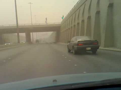 Sandstorm in Riyadh-Returning home from outskirts