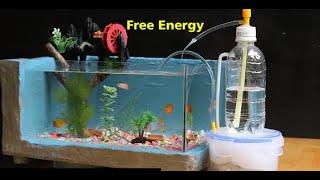 Cara Membuat Pompa Air Energi Gratis Untuk Aquarium Pompa Air Tanpa Listrik Youtube