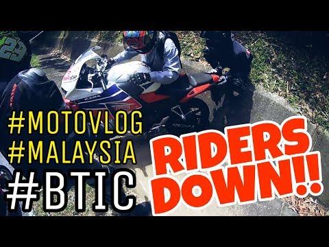 #222 RIDERS DOWN!!  BUKIT TINGGI DOWNHILL|| MOTOVLOGMALAYSIA
