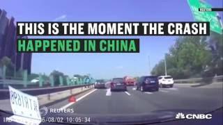 Tesla's autopilot car in crash   CNBC International