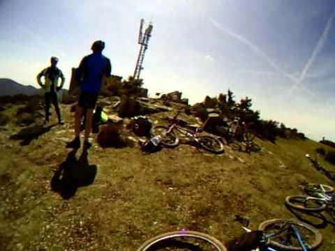 Biciviajes, pujant al Puig Drau