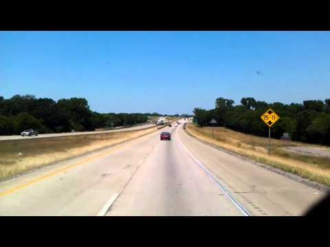 Interstate 45 North through Corsicana, Texas