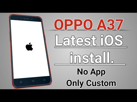 OPPO A37 Latest iOS Custom Rom install No App Only Custom Rom / OPPO