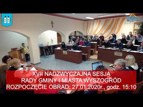 XVII Nadzwyczajna Sesja Rady Gminy I Miasta Wyszogród W Kadencji 2018-2023