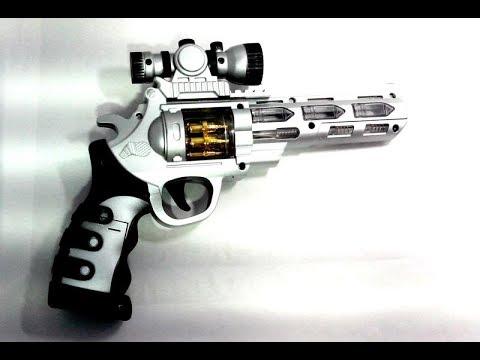 Пистолет со звуком и светом детский