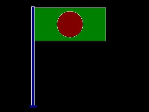 To draw a Bangladesh national flag by C graphics Programme