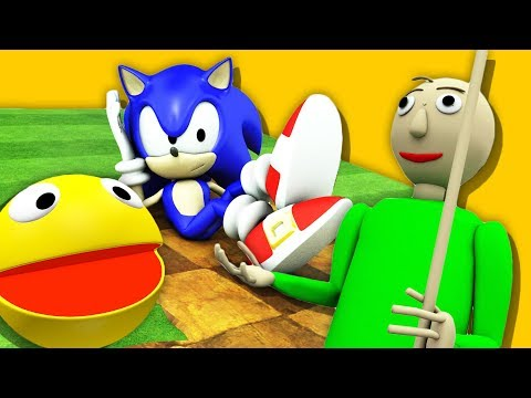 download BALDI'S BASICS VS 3D PACMAN and SONIC The Hedgehog (Official series)