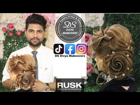 Creative Russian Hairstyling | Learn advance hair styling | step by step in Hindi |