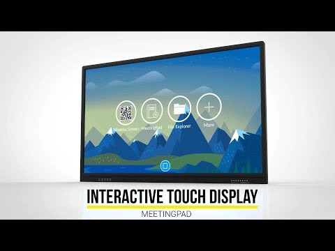 Introducing the Interactive Touch Display with MeetingPad Android OS