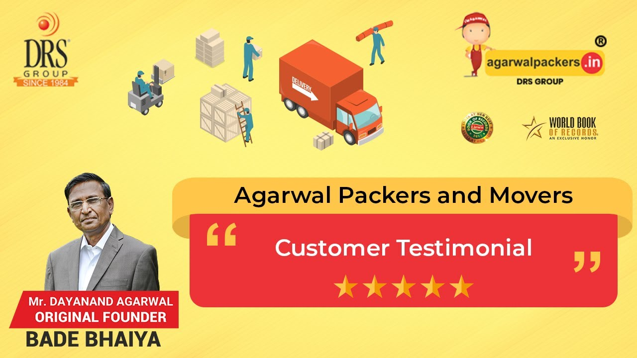 Agarwal Packers And Movers Hyderabad To Pune Customer Testimonial Bade Bhaiya Drs Group Youtube