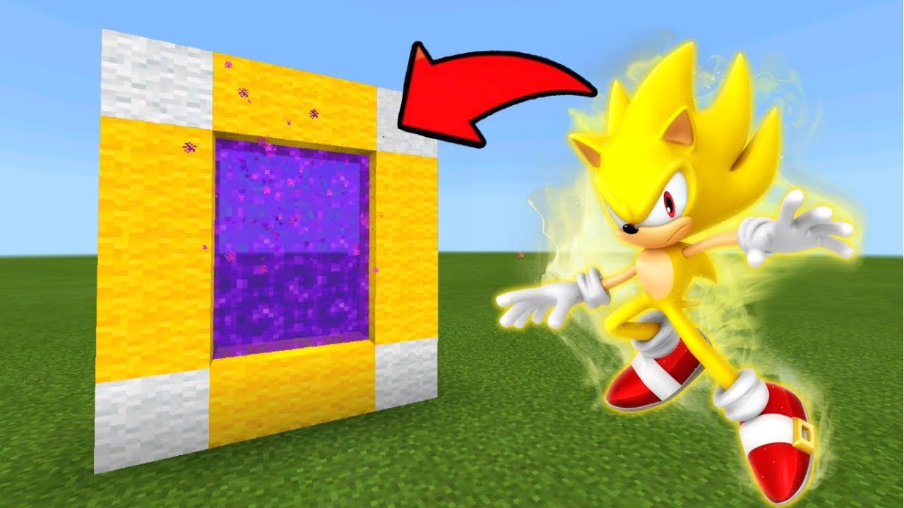Minecraft Pe How To Make A Portal To The Super Sonic Dimension   Mcpe  Portal To The Super Sonic