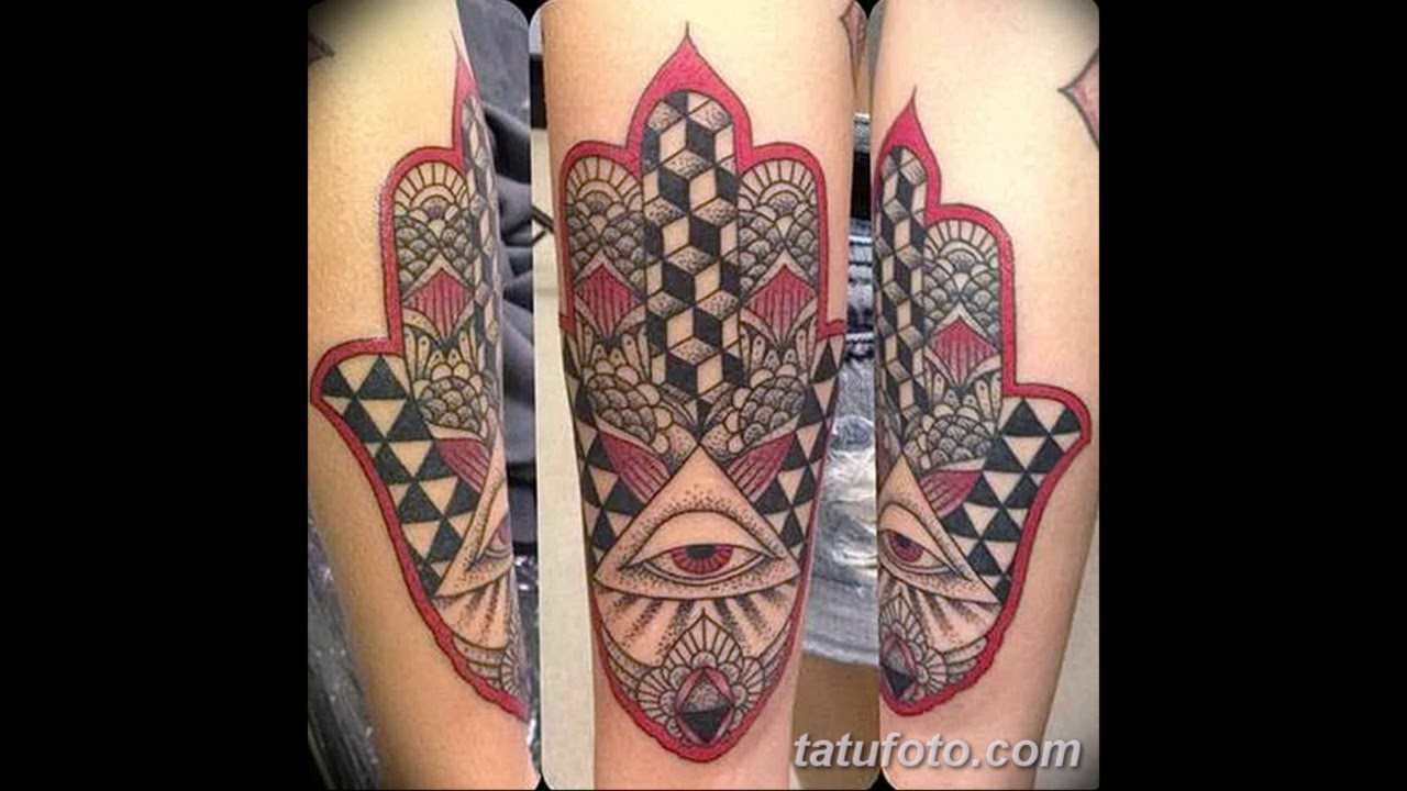Значение тату Рука Фатимы - варианты готовых рисунков татуировки на фото