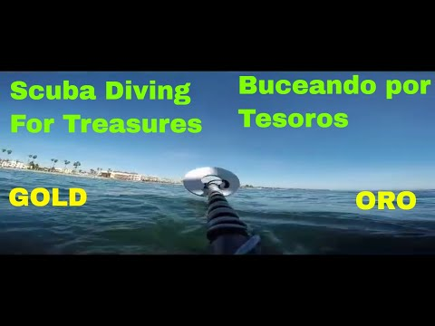SCUBA DIVING TREASURE HUNT ! GOLD, SILVER, DIAMONDS & GEMSTONES ! Santa Cruz Pier Treasure Hunt #2