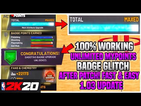 *EVEN FASTER!* NBA 2K20 BADGE GLITCH + MAX MYPOINTS! (UNLIMITED!) NO SUMMER LEAGUE! PS4 & XBOX & PC!