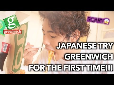 JAPANESE TRIES GREENWICH FOR THE FIRST TIME!!!!!!!