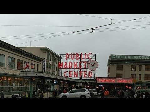 Pike Place Market- life in Americaشوارع امريكا