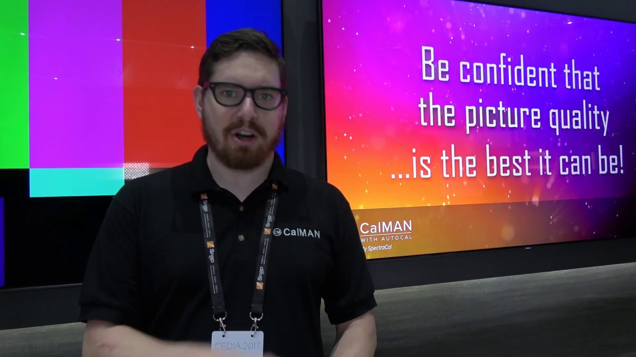Samsung QLED and SpectraCal CalMan AutoCal at CEDIA 2017