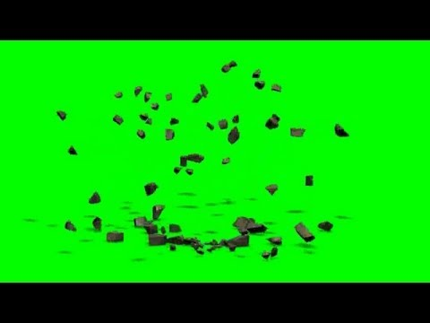 ground explosion - green screen effect