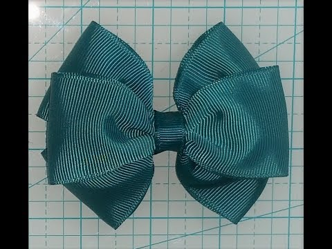 Beginner Bow Making simple triple stacked pinch bow( tuxedo bow)