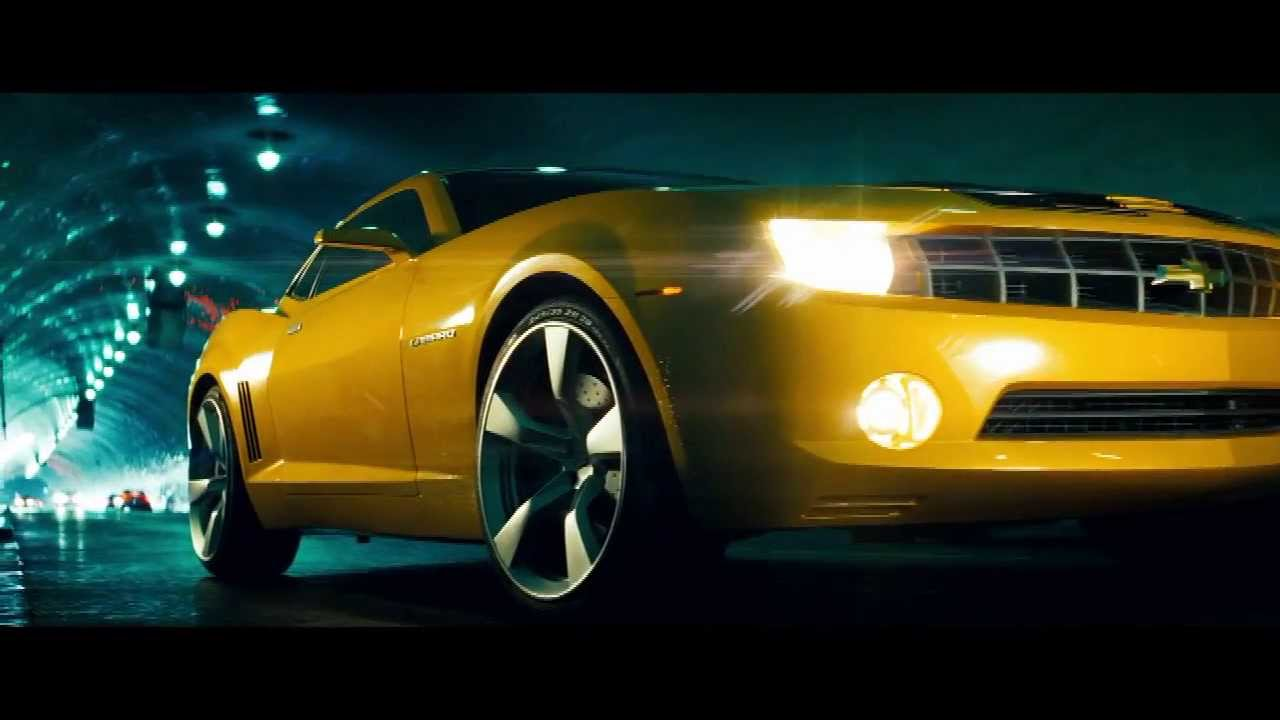 Transformers  Bumblebee transforms into new Camaro whole clip